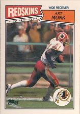 1987 Topps American/UK #19 Art Monk