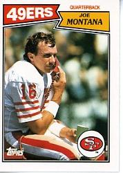 1987 Topps American/UK #29 Joe Montana