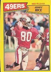 1987 Topps Box Bottoms #K Jerry Rice