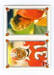 1987 Topps Stickers #54 William Andrews/ 204 Dino Hackett front image