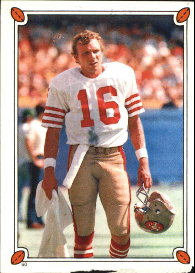 1987 Topps Stickers #60 Joe Montana
