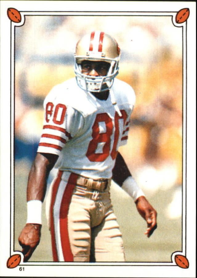 1987 Topps Stickers #61 Jerry Rice