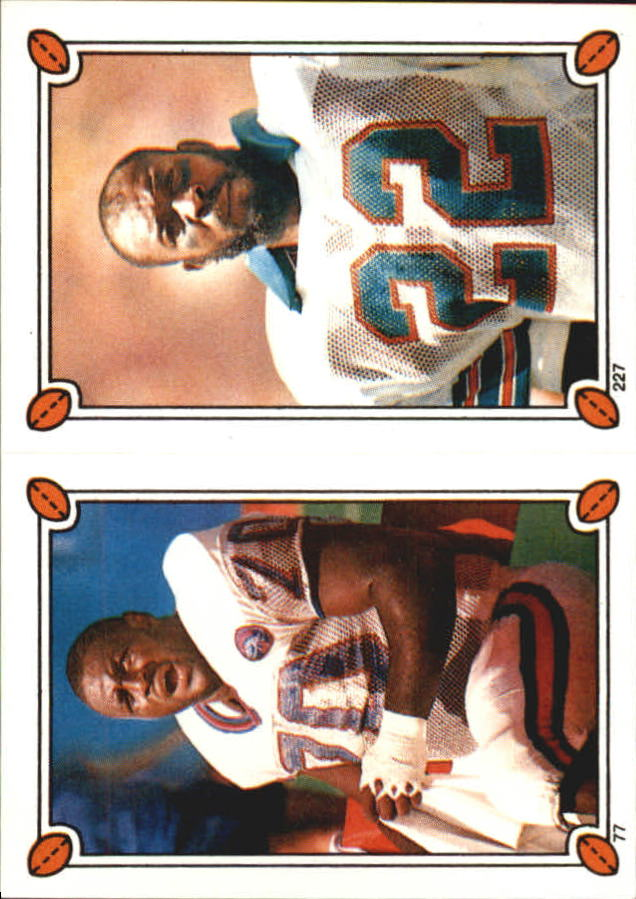 1987 Topps Stickers #77 Leonard Marshall/ 227 Tony Nathan