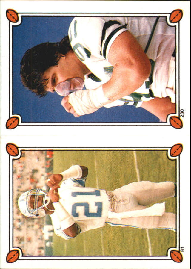 1987 Topps Stickers #81 Demetrious Johnson/ 230 Mark Gastineau