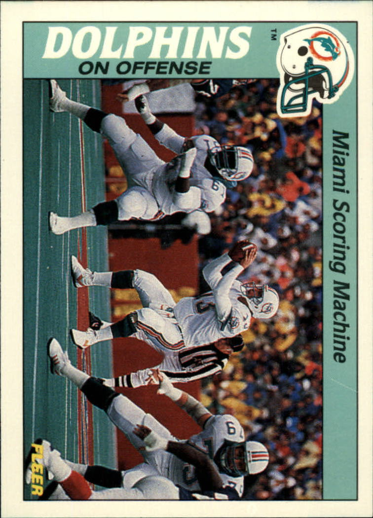 1988 Fleer Team Action #15 Miami Dolphins Offense