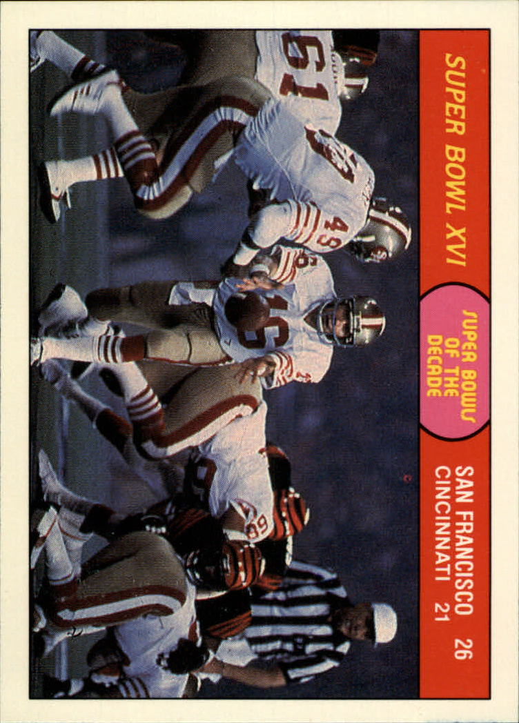 1988 Fleer Team Action #65 Super Bowl XVI