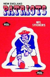 1988 Fleer Team Action Stickers #31 New England Patriots/Logo