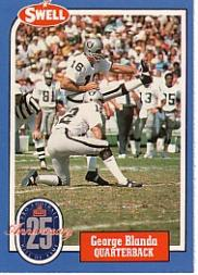 1988 Swell Greats #17 George Blanda 81 front image