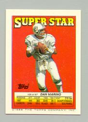 1988 Topps Sticker Backs #29 Dan Marino