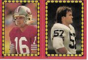 1988 Topps Stickers #64 Joe Montana/ 190 Clay Matthews