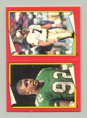 1988 Topps Stickers #284 Reggie White/ 285 Morten Andersen