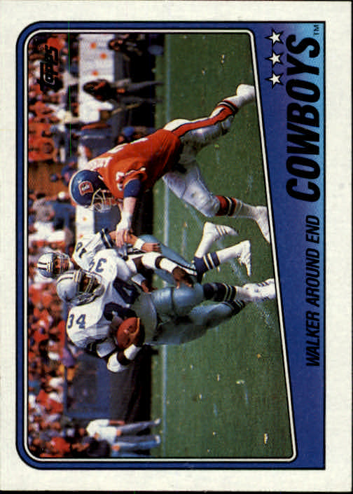 1988 Topps #259 Cowboys TL/H.Walker