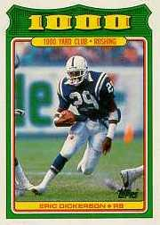 1988 Topps 1000 Yard Club #2 Eric Dickerson