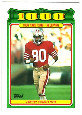 1988 Topps 1000 Yard Club #4 Jerry Rice
