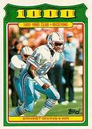1988 Topps 1000 Yard Club #11 Ernest Givins