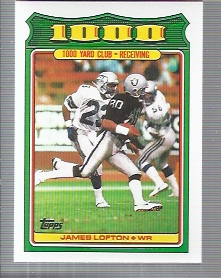 1988 Topps 1000 Yard Club #16 James Lofton