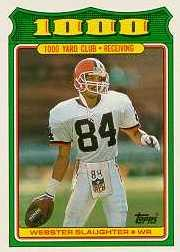 1988 Topps 1000 Yard Club #20 Webster Slaughter