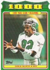 1988 Topps 1000 Yard Club #22 Mike Quick