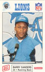 1989 Lions Police #11 Barry Sanders front image