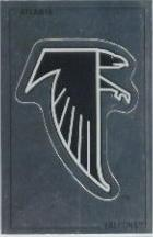 1989 Panini Stickers #9 Atlanta Falcons Logo FOIL