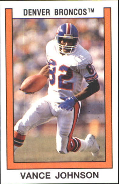 1989 Panini Stickers #267 Vance Johnson