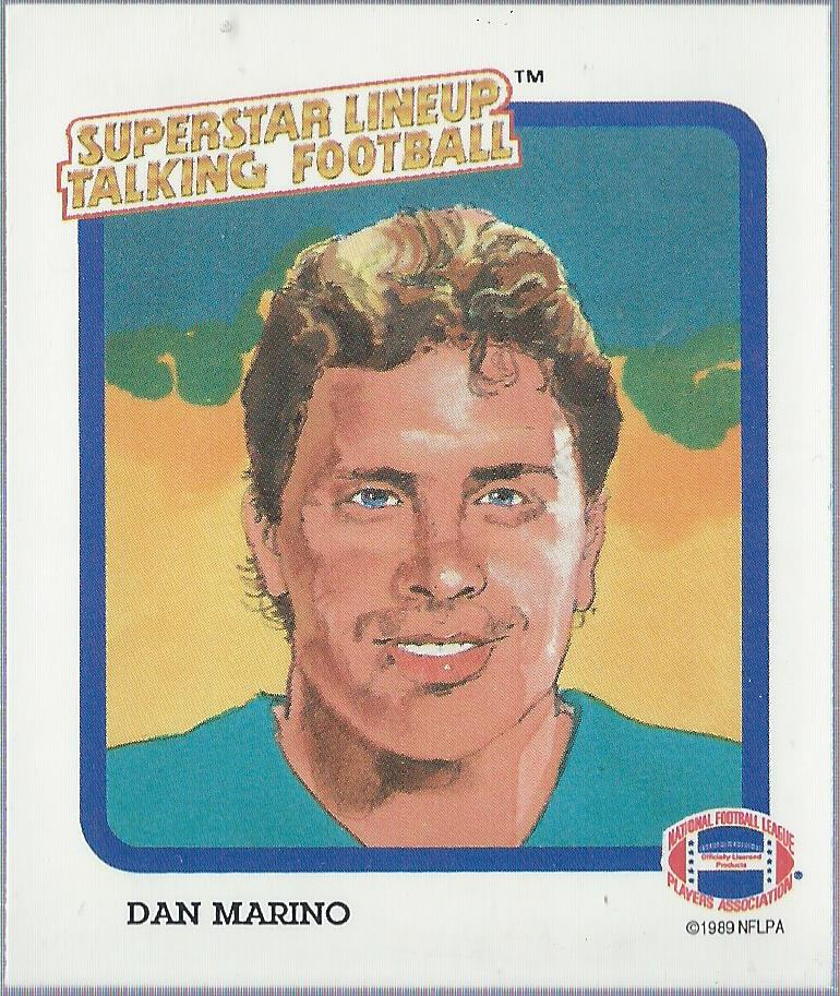 1989 Parker Brothers Talking Football #16 Dan Marino