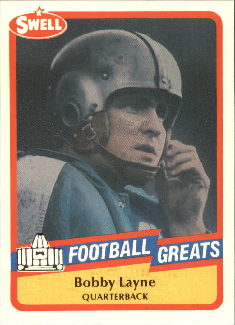 1989 Swell Greats #68 Bobby Layne
