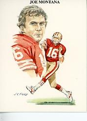 1989 TV-4 NFL Quarterbacks #18 Joe Montana