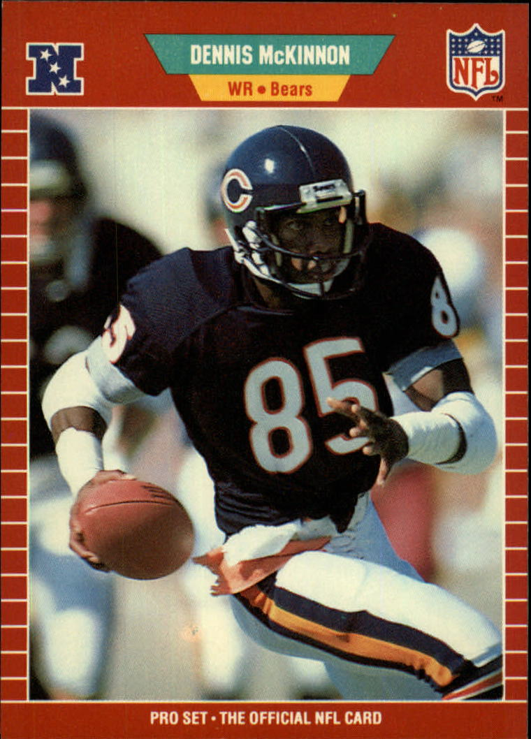 1989 Pro Set #43 Dennis McKinnon UER/(Caught 20 or 21/passes as a rookie)