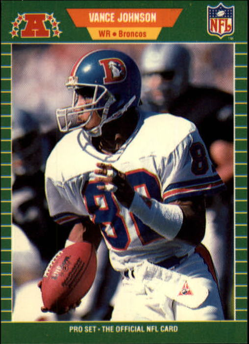 1989 Pro Set #105 Vance Johnson