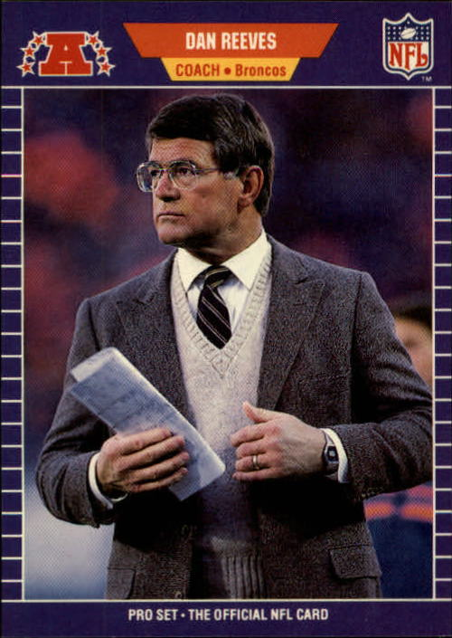 1989 Pro Set #114 Dan Reeves CO