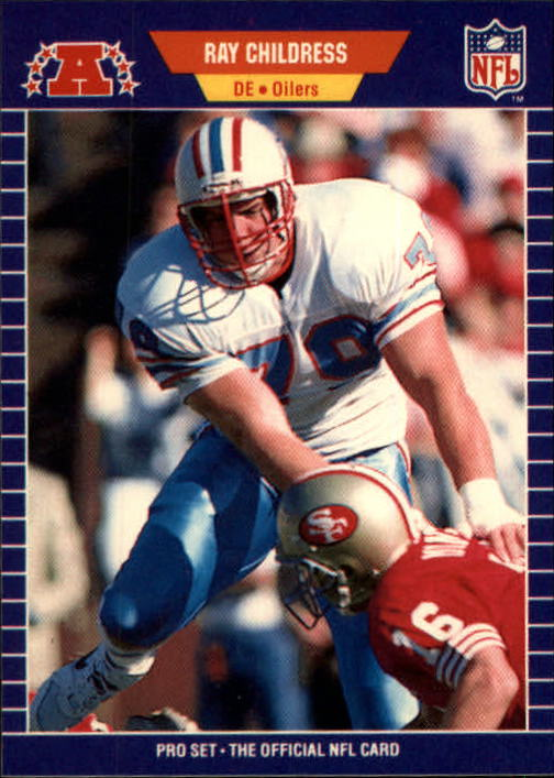 1989 Pro Set #141 Ray Childress/(Sacking Joe Montana)