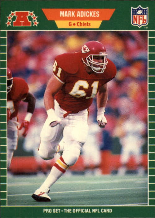 1989 Pro Set #178 Mark Adickes RC/(Out of alphabetical/sequence for his team)
