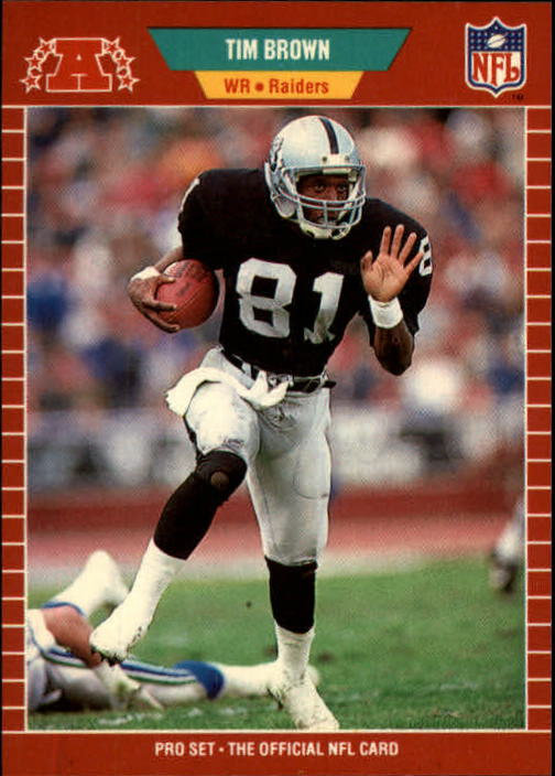 1989 Pro Set #183 Tim Brown RC