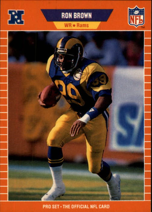 1989 Pro Set #196 Ron Brown