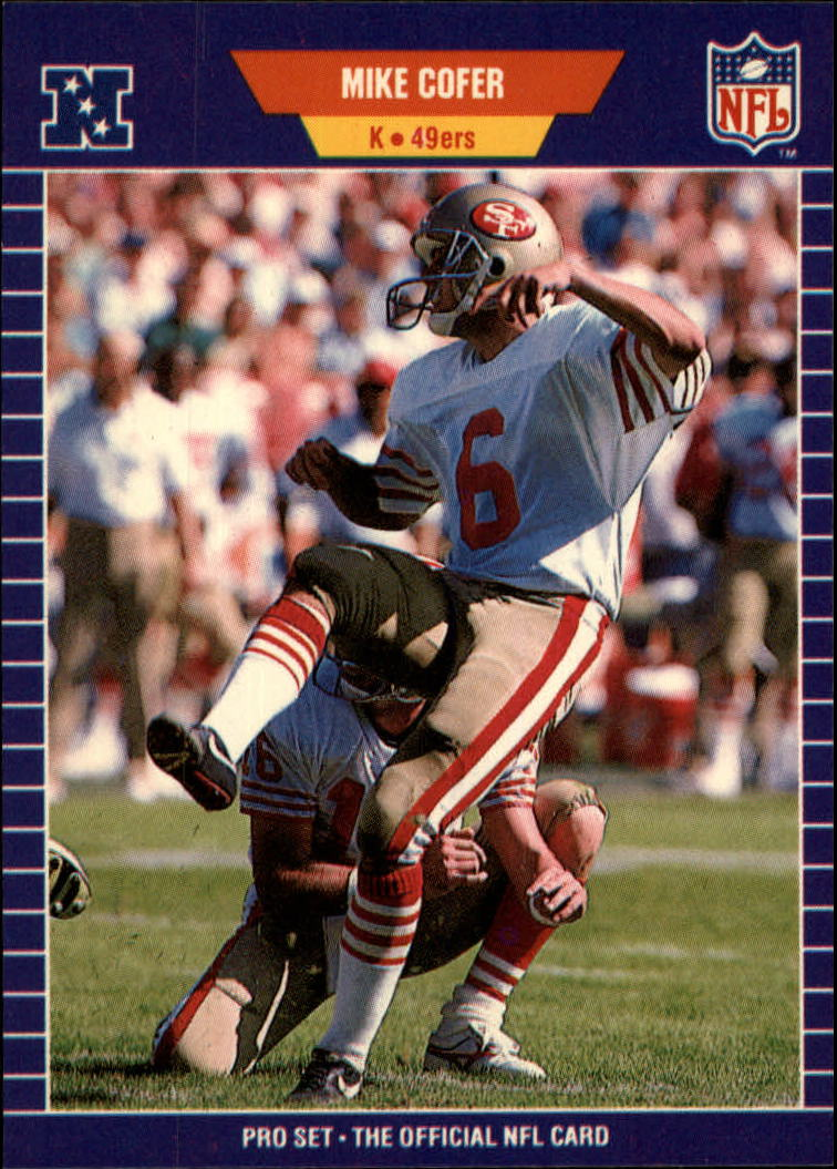 1989 Pro Set #371 Mike Cofer RC/(Joe Montana holding)