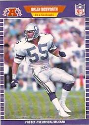 1989 Pro Set #391B Brian Bosworth COR/(Listed by team nick-/name on front)