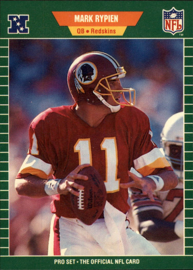 1989 Pro Set #434 Mark Rypien RC