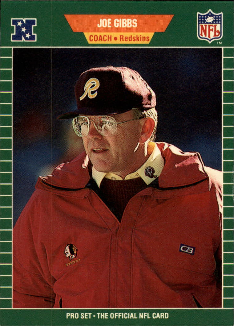 1989 Pro Set #440 Joe Gibbs CO RC
