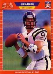 1989 Pro Set #478A Jim McMahon/(No mention of trade/on card front)