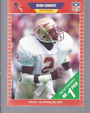 1989 Pro Set #486 Deion Sanders RC