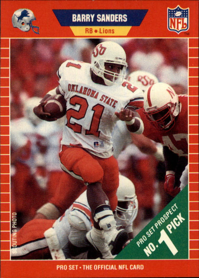 1989 Pro Set #494 Barry Sanders RC