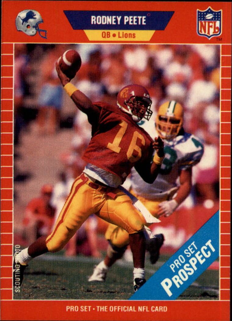 1989 Pro Set #521 Rodney Peete UER RC/(Jersey 19 on back,/should be 9)
