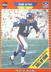 1989 Pro Set Announcers #2 Frank Gifford