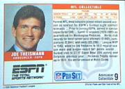 1989 Pro Set Announcers #9 Joe Theismann back image