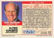 1989 Pro Set Announcers #12 Terry Bradshaw back image