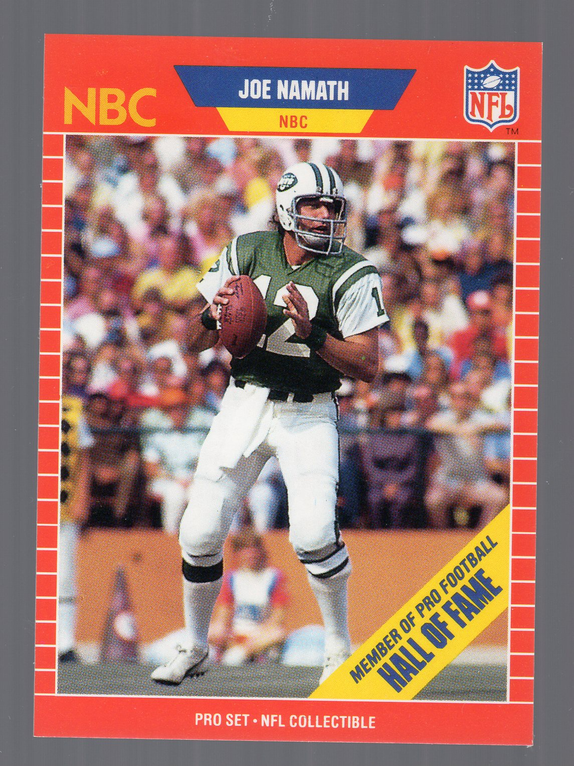 1989 Pro Set Announcers #25 Joe Namath