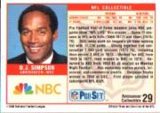 1989 Pro Set Announcers #29 O.J. Simpson back image