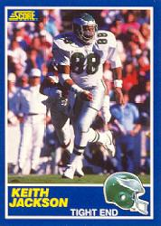 1989 Score #101A Keith Jackson RC ERR/(Listed as 84/on card back)