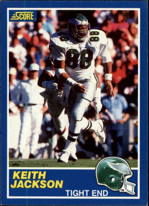 1989 Score #101B Keith Jackson RC COR/(Listed as 88/on card back)